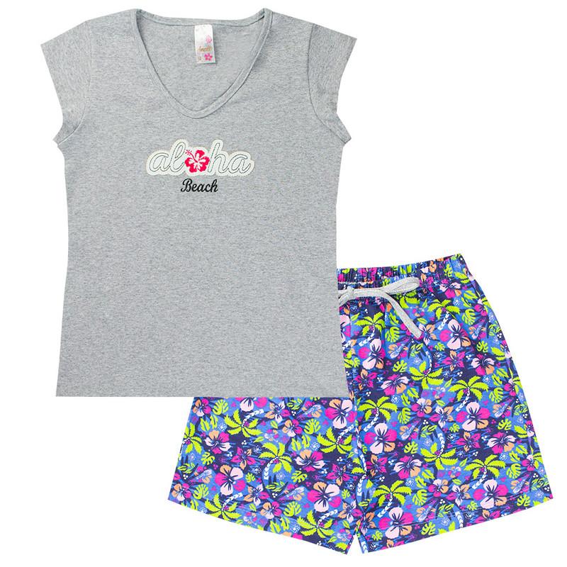 Conjunto Infantil Feminino Aloha Mescla - Analê