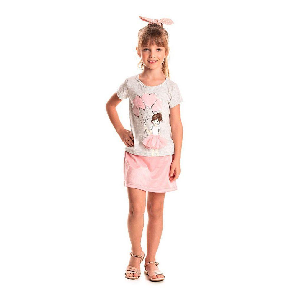 Conjunto Infantil Feminino Bailarina Branco - Tileesul
