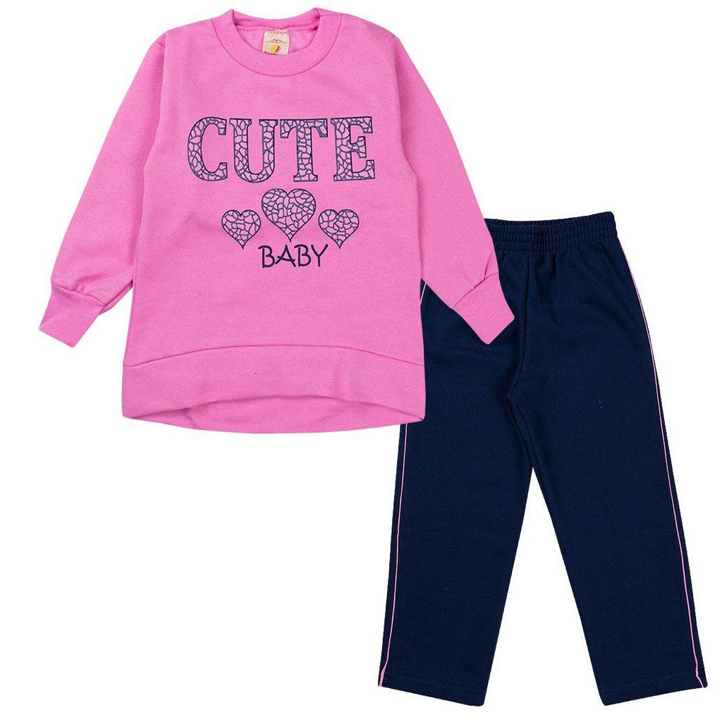 Conjunto Infantil Feminino Cute Baby Rosa - Isensee