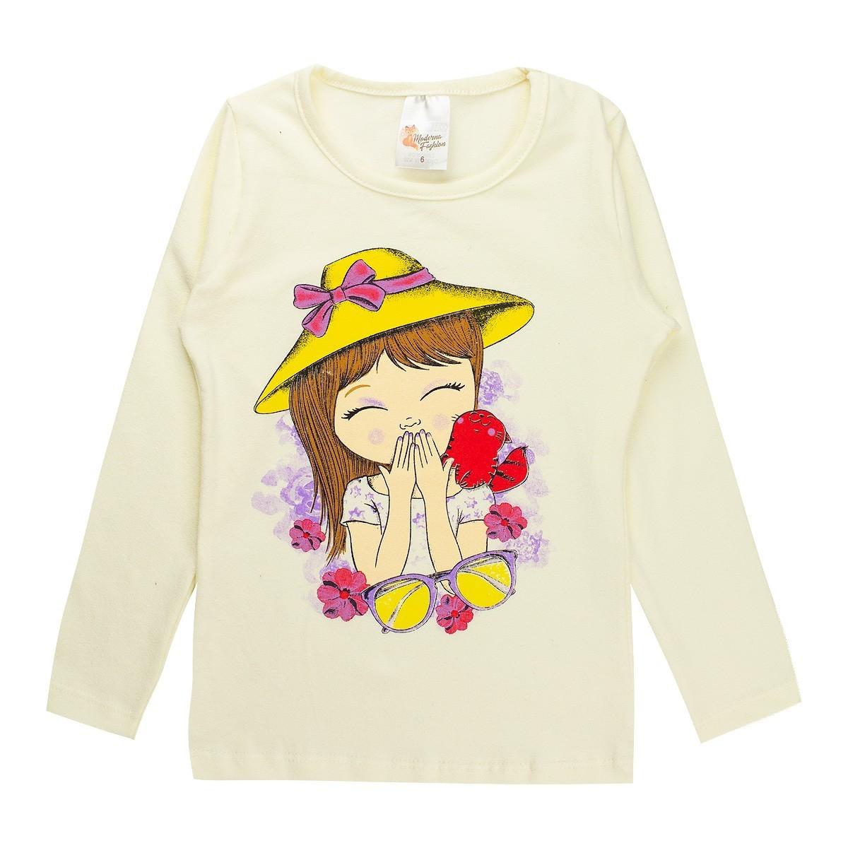 Conjunto Infantil Feminino Estampado Cotton Menina