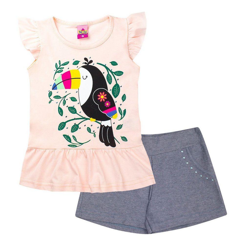 Conjunto Infantil Feminino Tucano Pérola - Tileesul