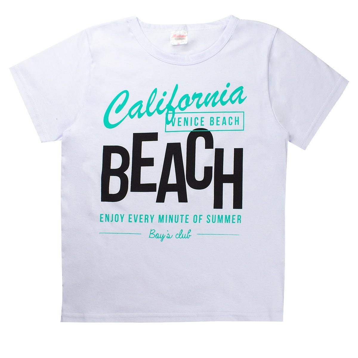 Conjunto Infantil/Juvenil Califórnia Beach Branco Moderna