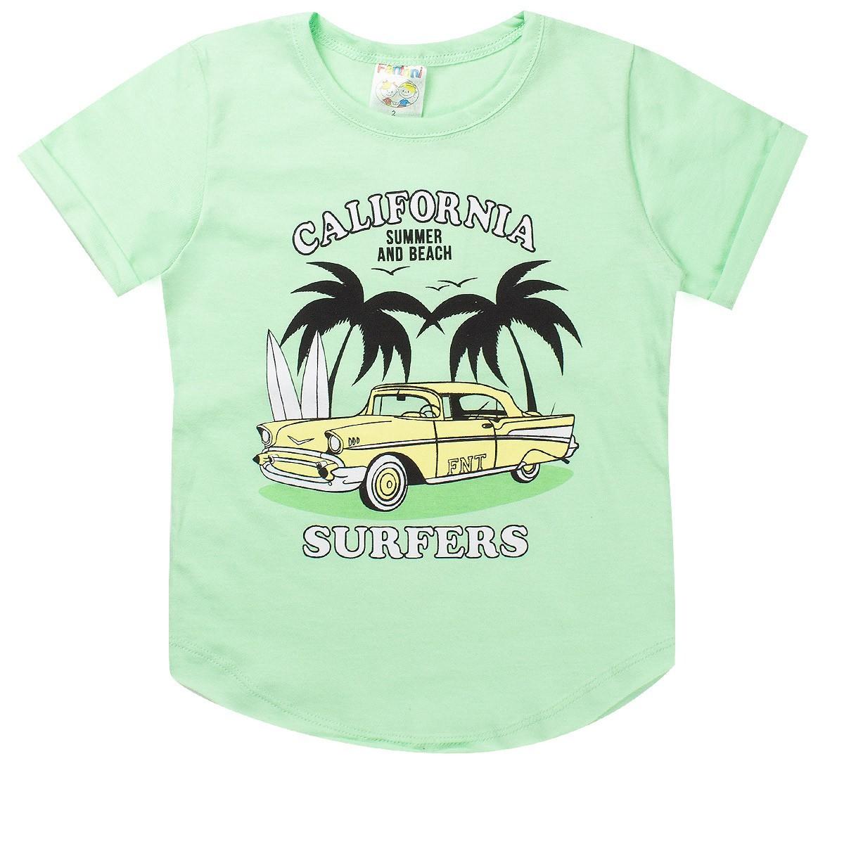Conjunto Infantil Masculina Califórnia Verde - Fantoni
