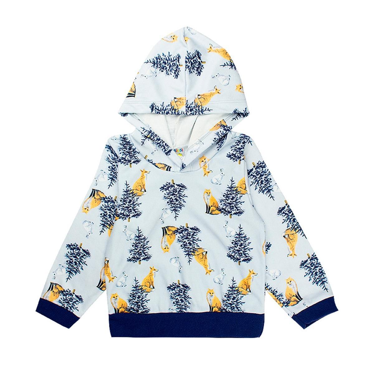 Conjunto Infantil Masculino Bebê Soft Com Capuz - Azul