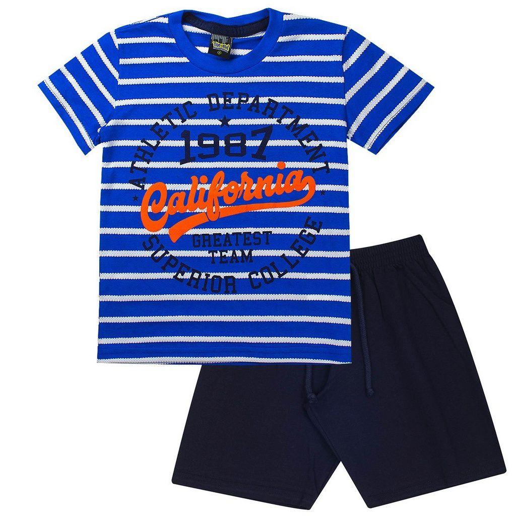 Conjunto Infantil Masculino California Azul - Tileesul