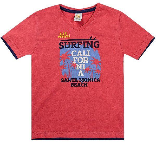 Conjunto Infantil Masculino California Salmão Costão Mini