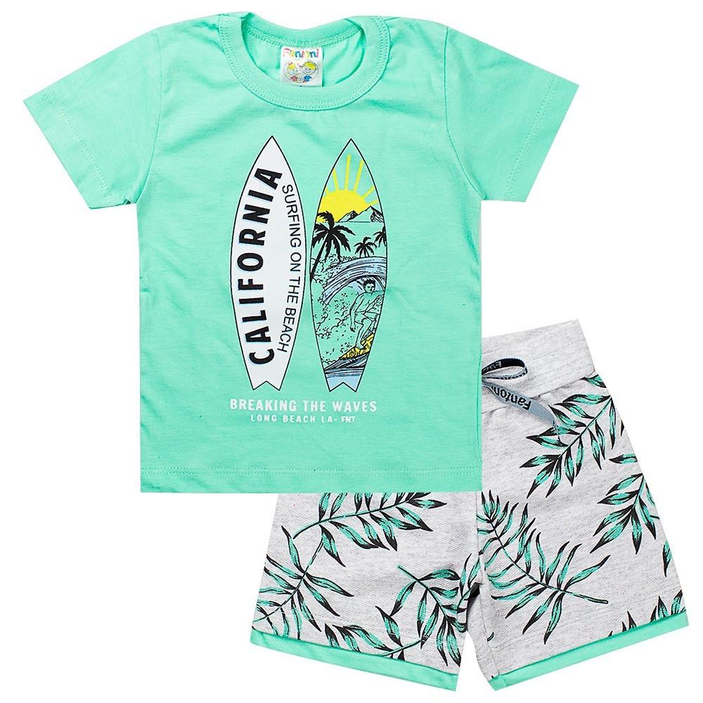 Conjunto Infantil Masculino Califórnia Verde - Fantoni