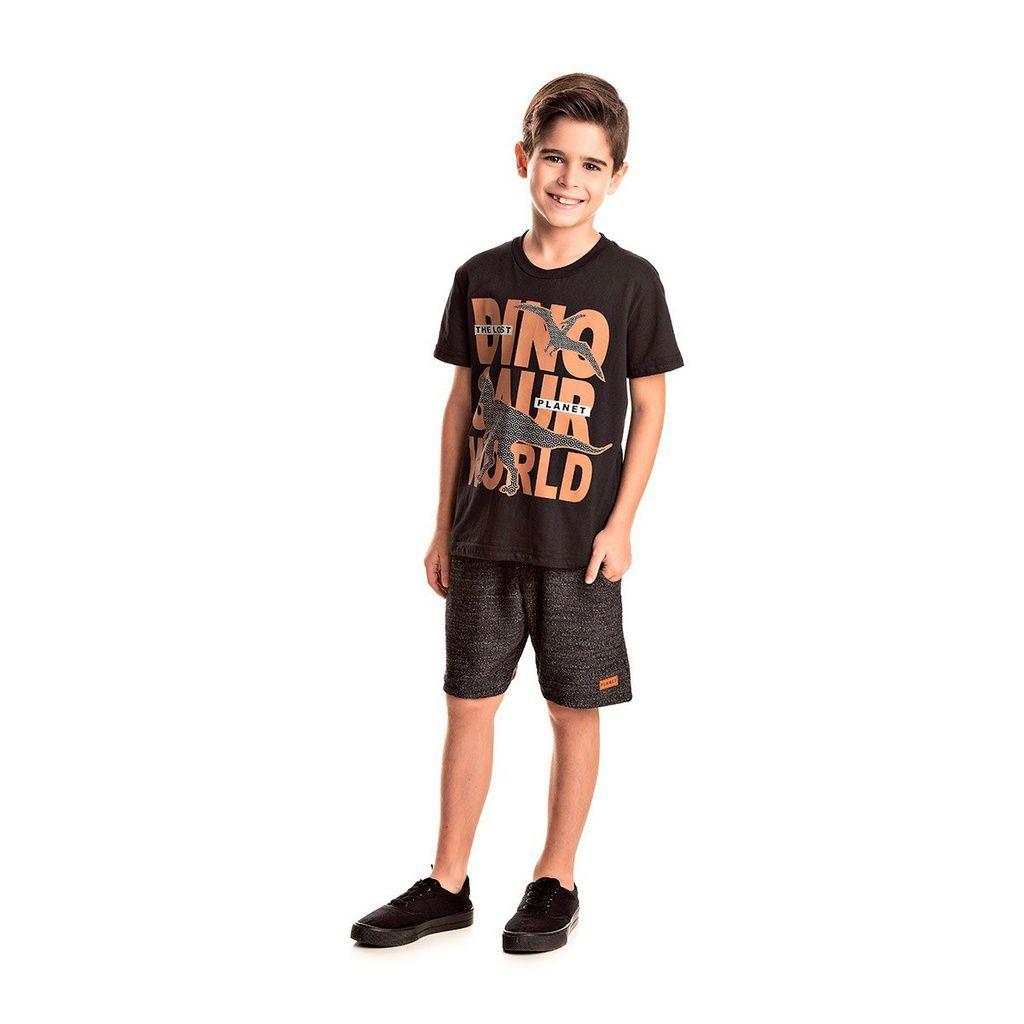 Conjunto Infantil Masculino Dino World Mescla - Tileesul