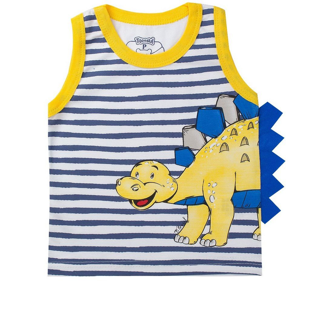 Conjunto Infantil Masculino Dinossauro Amarelo - Tileesul