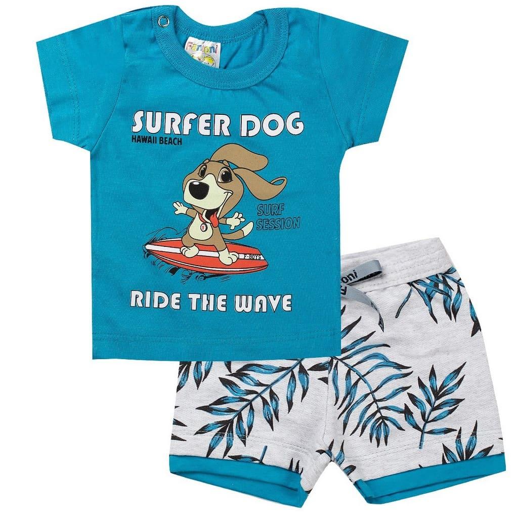 Conjunto Infantil Masculino Dog Azul - Fantoni