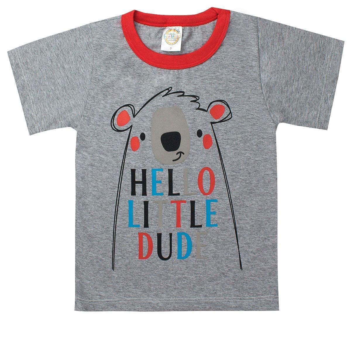 Conjunto Infantil Masculino Hello Little Mescla - Kontrato