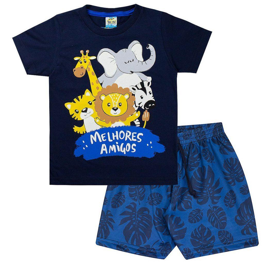 Conjunto Infantil Masculino Safari Marinho - Tileesul