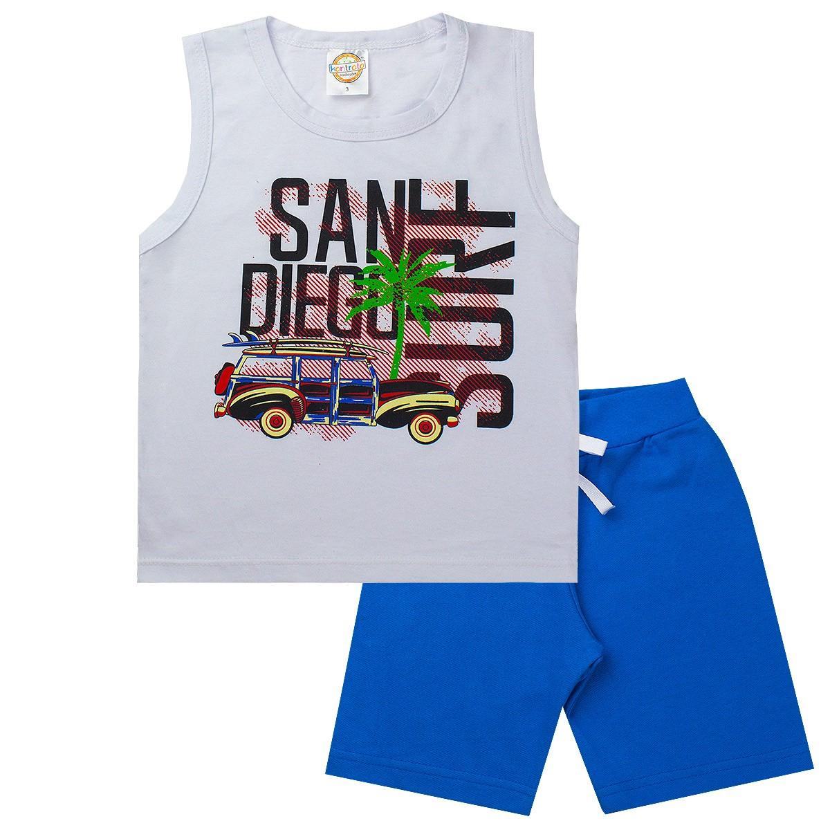 Conjunto Infantil Masculino San Diego Branco - Kontrato