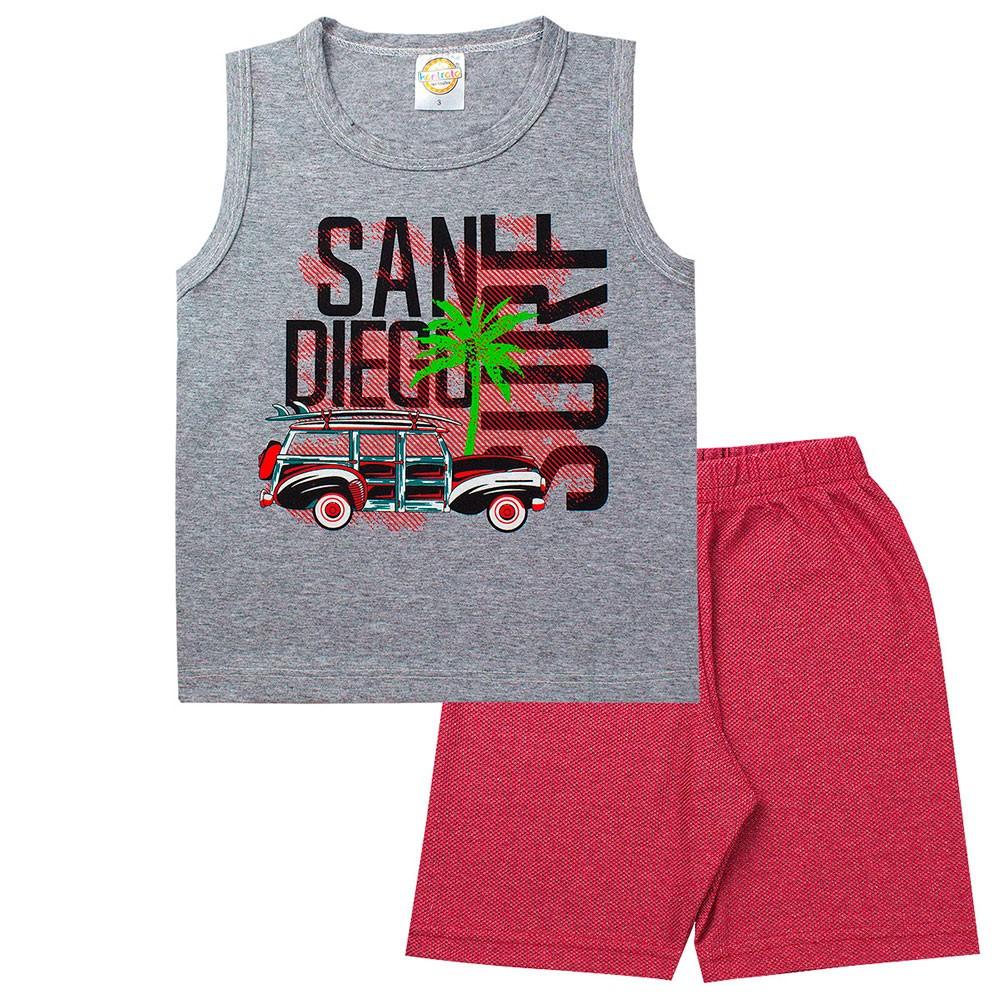 Conjunto Infantil Masculino San Diego Cinza - Kontrato