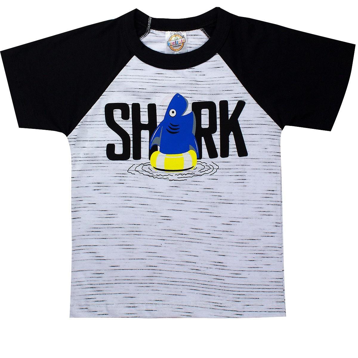 Conjunto Infantil Masculino Shark Cinza - Kontrato