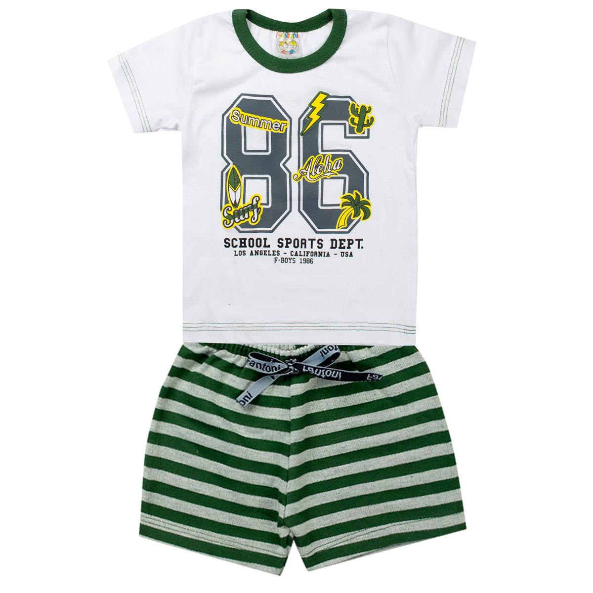 Conjunto Infantil Masculino Sports Verde - Fantoni