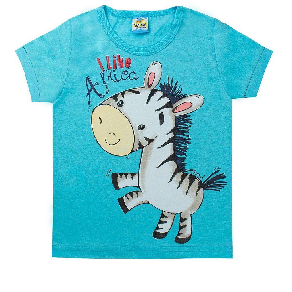 Conjunto Infantil Masculino Zebra Azul- Tileesul