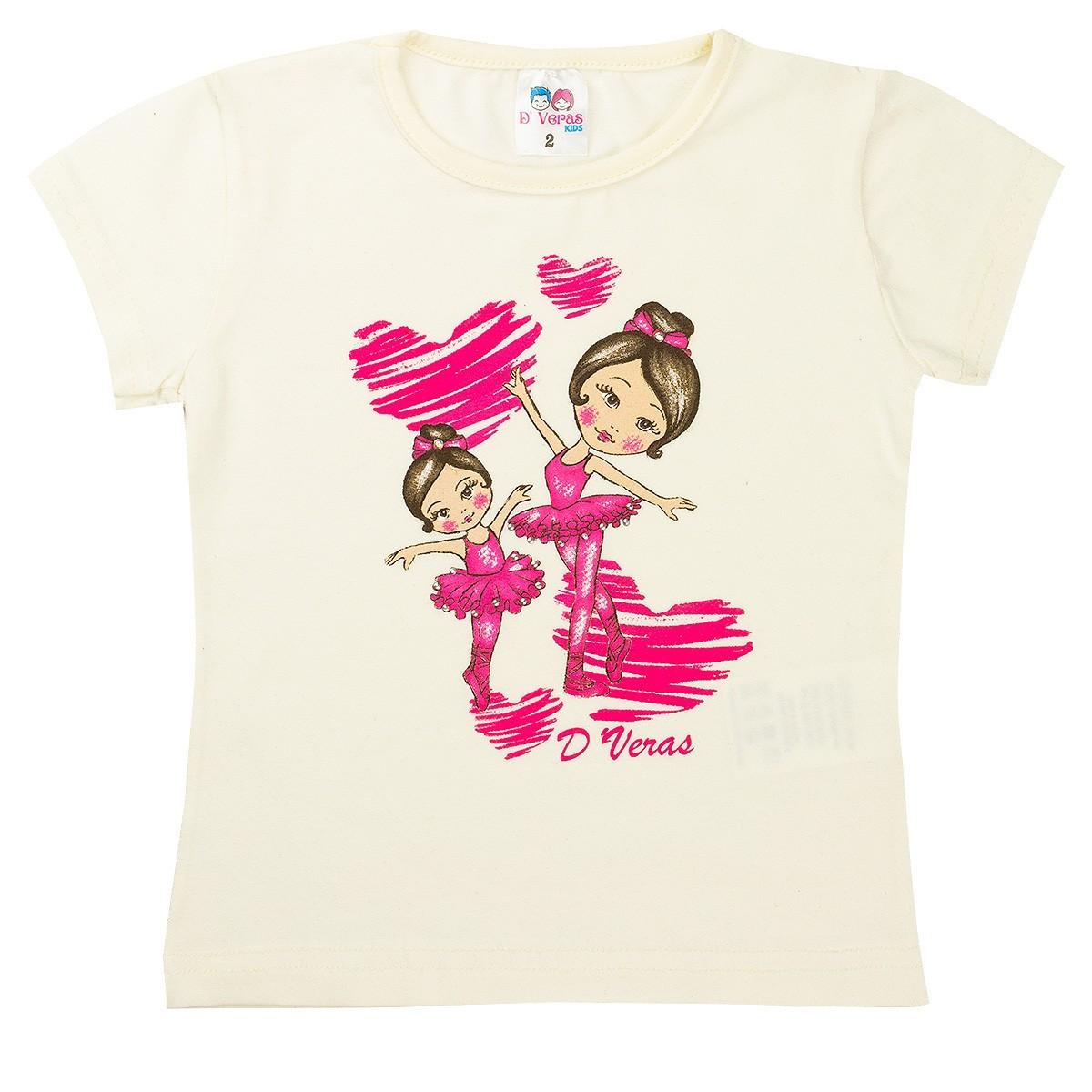 Conjunto Infantil Menina Bailarinas Bege D'Veras
