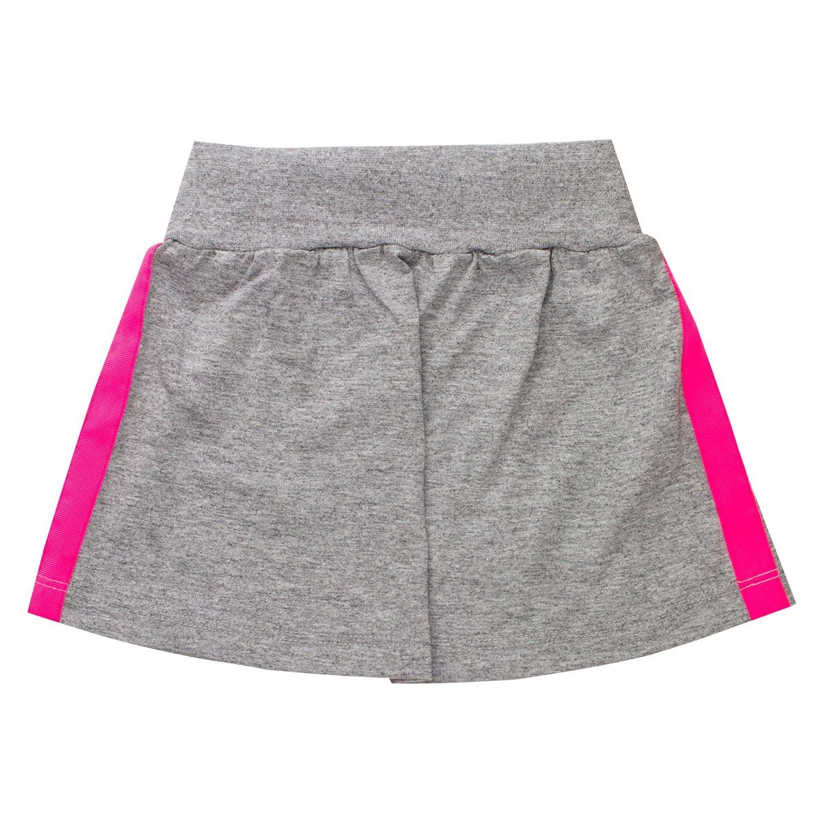 Conjunto Infantil Menina Blusa Amarradinha Saia Neon Rosa