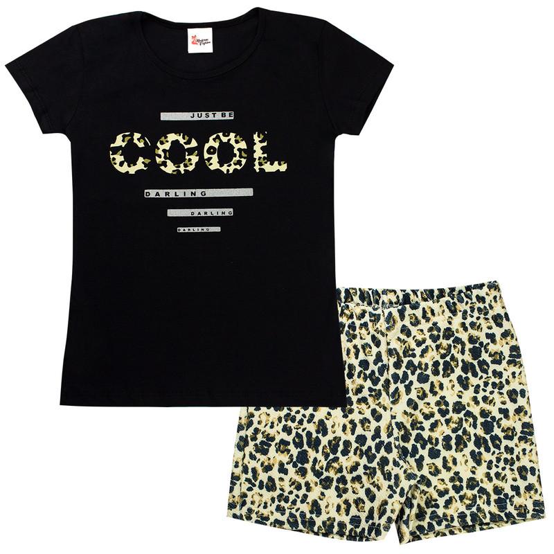 Conjunto Infantil Menina Cotton Verão Feminino