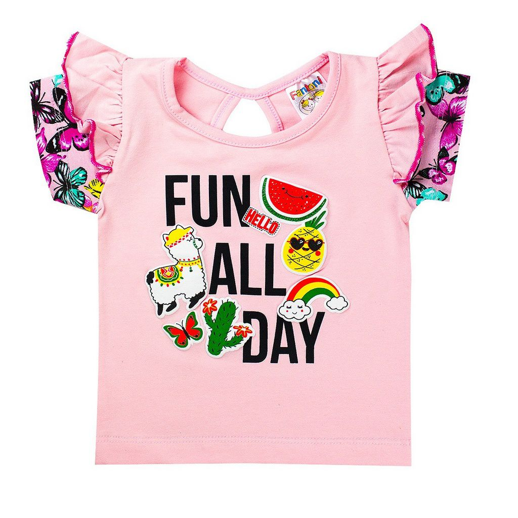 Conjunto Infantil Menina Fun All Day Rosa - Fantoni