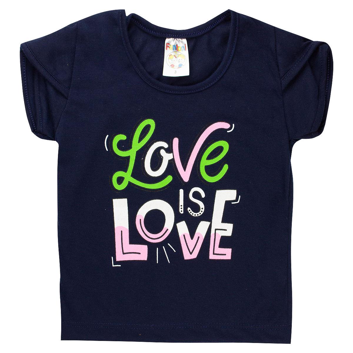 Conjunto Infantil Menina Love Estampado - Marinho