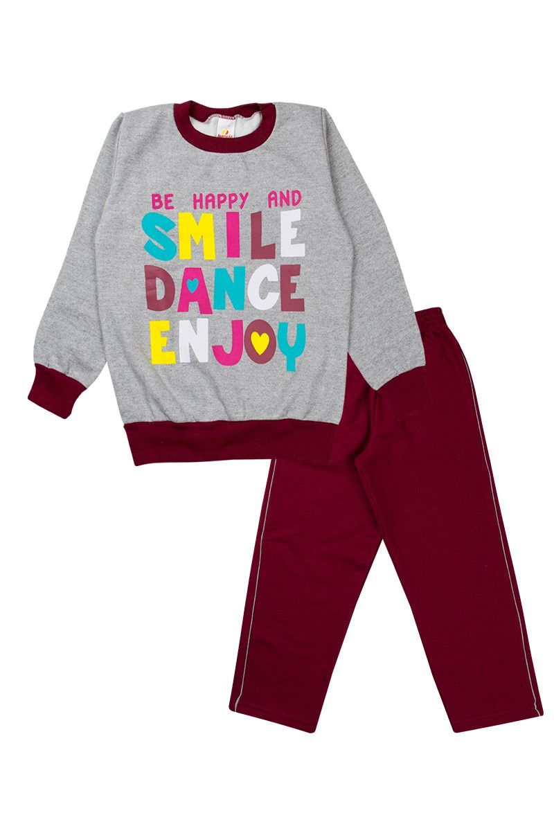 Conjunto Infantil Menina Smile Dance Mescla - Isensee