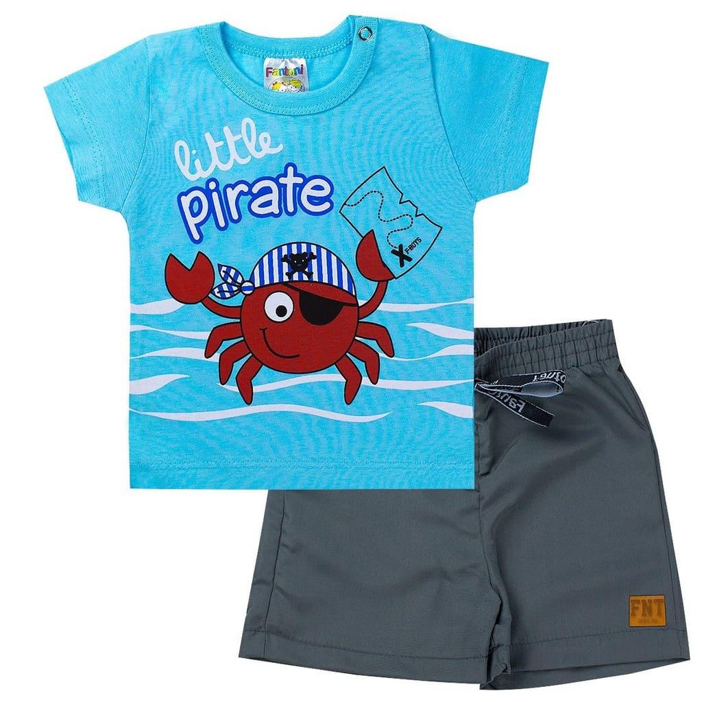 Conjunto Infantil Menino Boy Pirata Azul - Fantoni