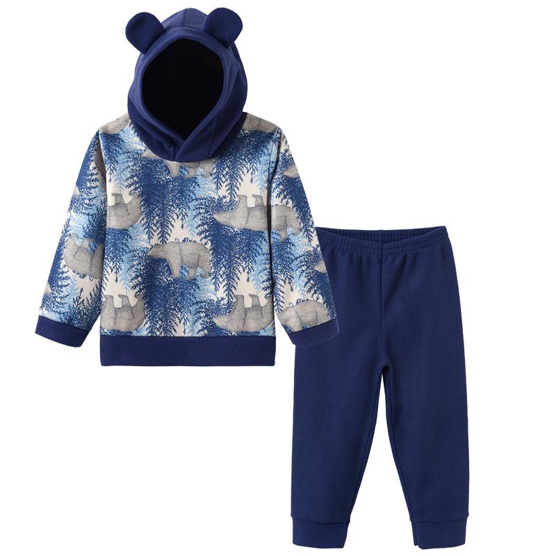 Conjunto Infantil Menino Capuz Soft Roupas Infantil Inverno
