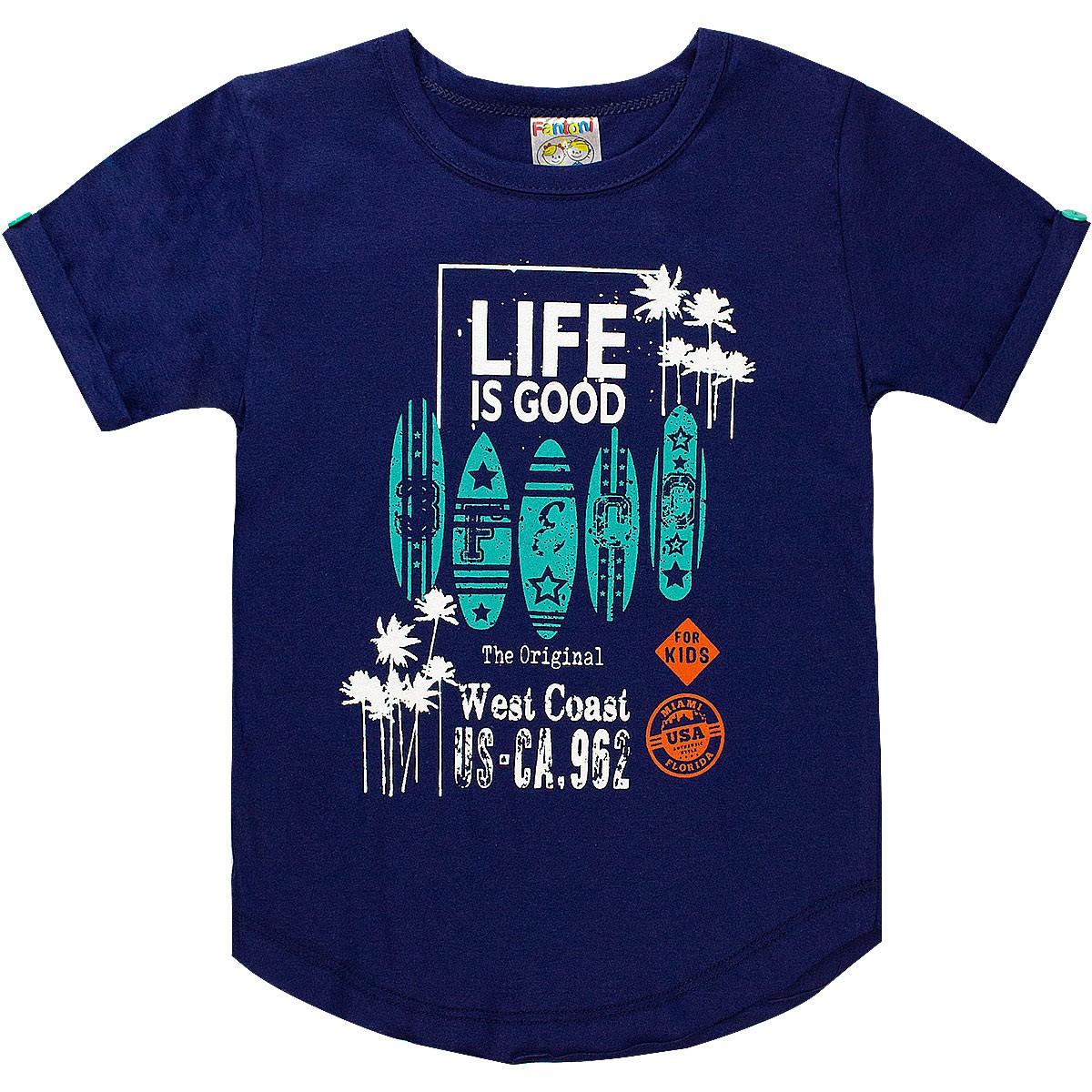 Conjunto Infantil Menino Life Is Good Verde - Fantoni
