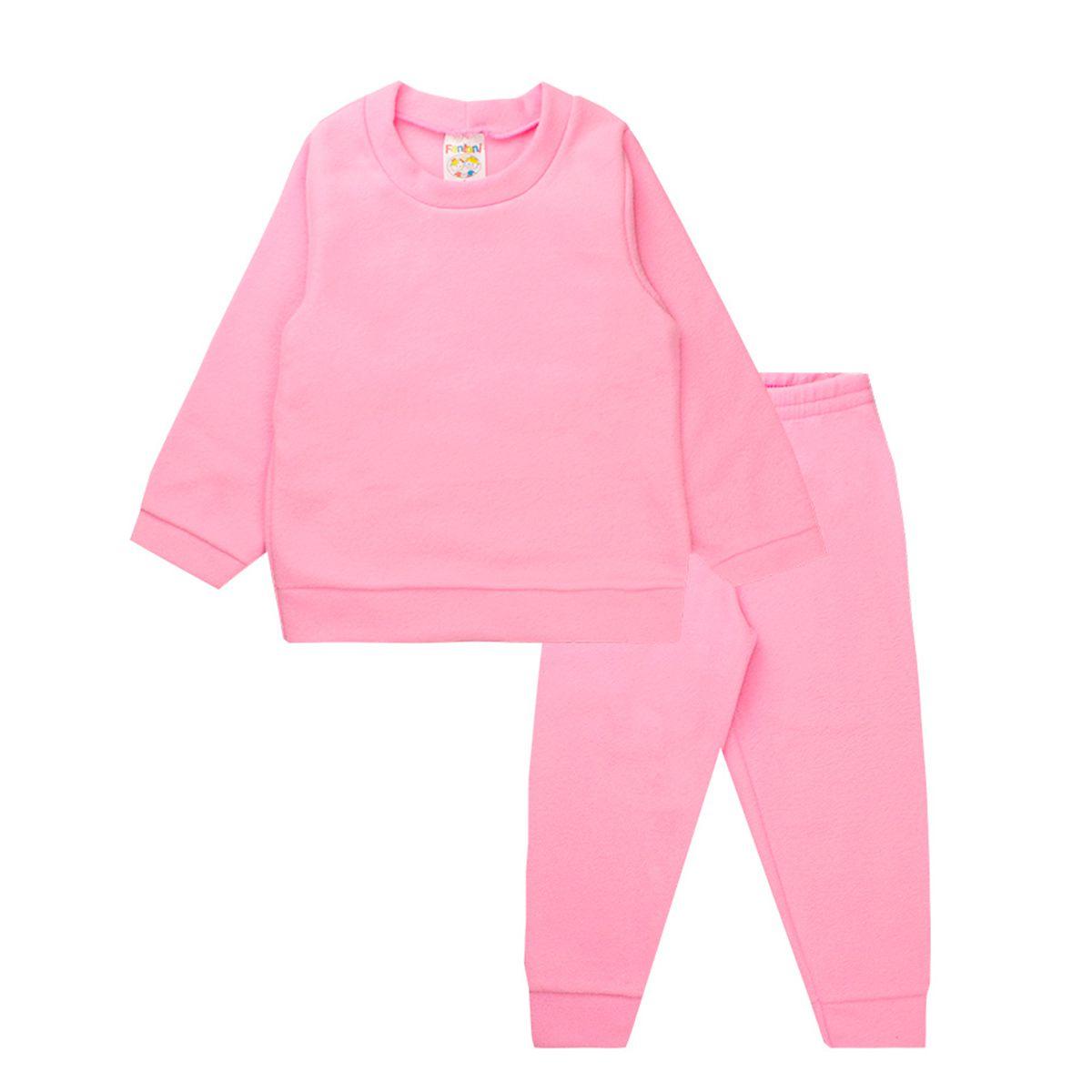 Conjunto Infantil Menina Soft Rosa Fantoni