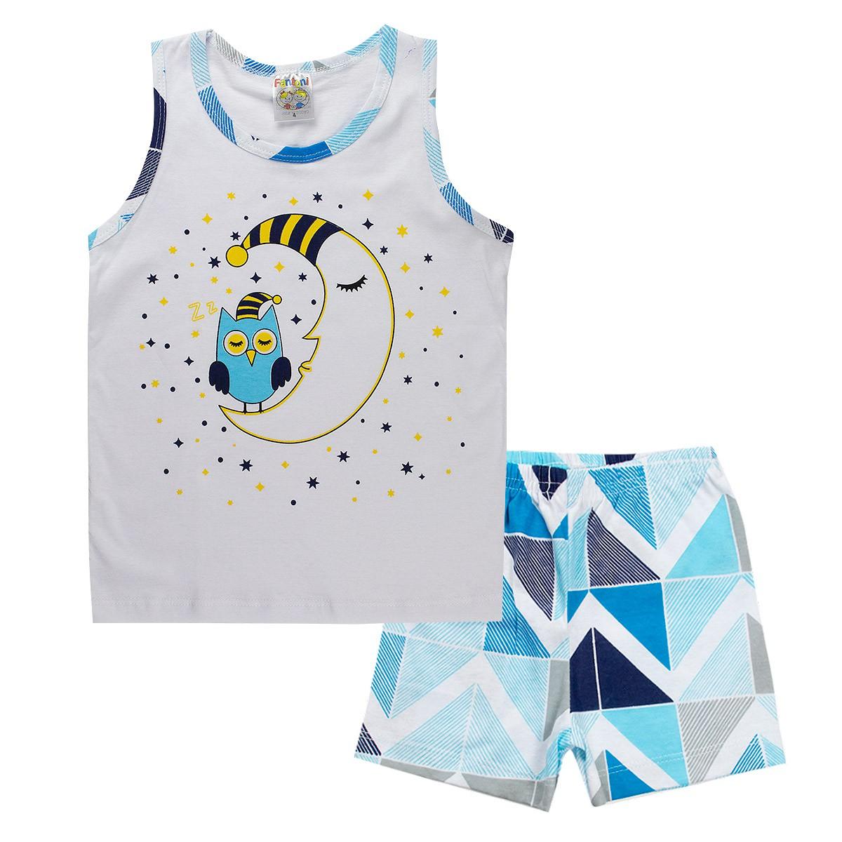 Conjunto Infantil Pijama Menino Branco - Fantoni