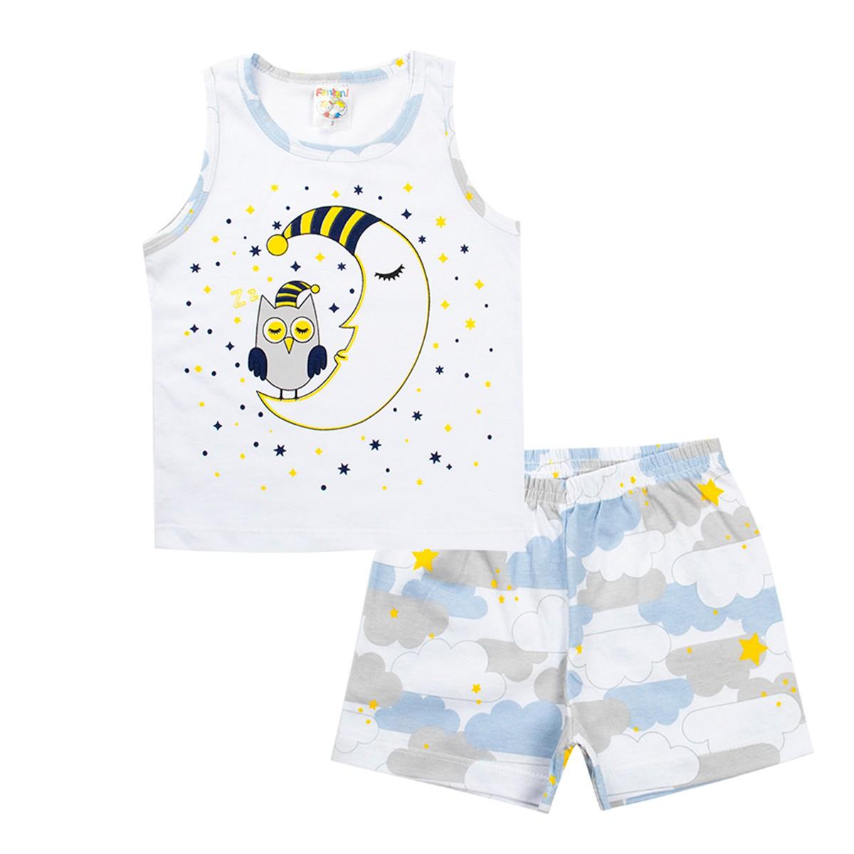 Conjunto Infantil Pijama Menino Cinza - Fantoni