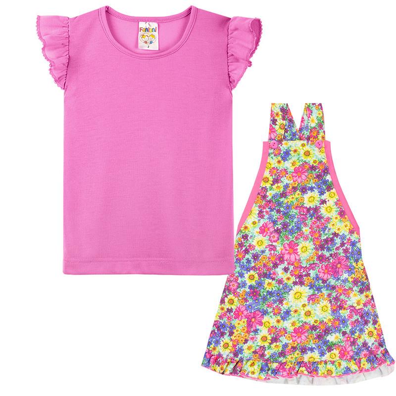 Conjunto Infantil Vestido Contendo 2 Peças Roupas Meninas