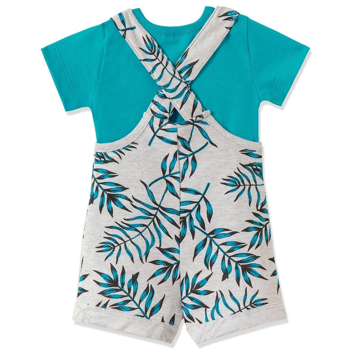Conjunto Jardineira Infantil Menino Azul - Fantoni