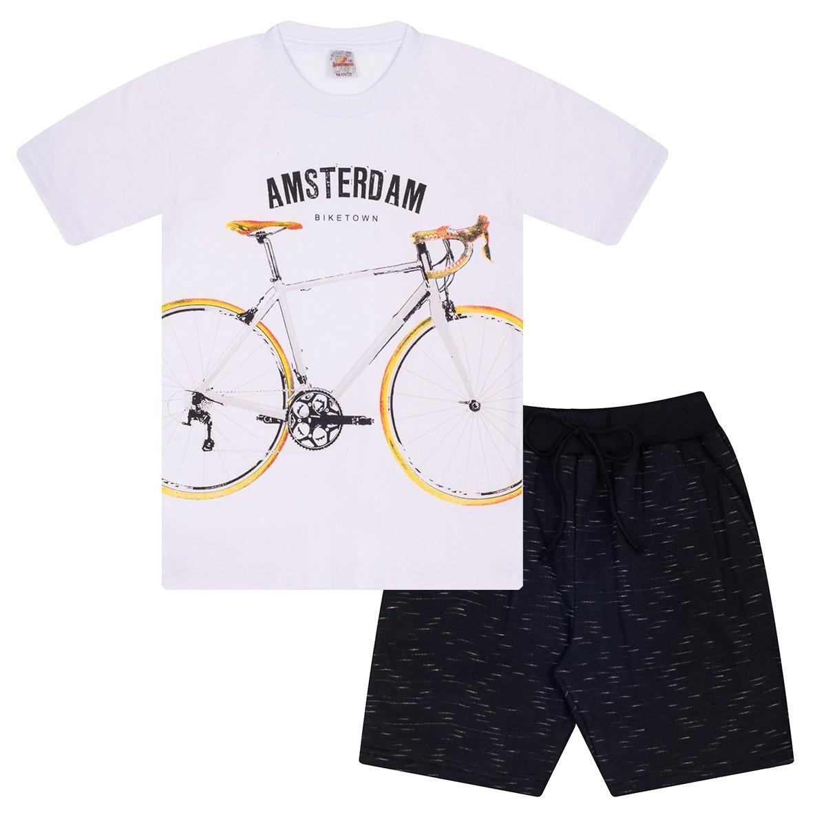 Conjunto Juvenil Menino Biketown Branco Isensee