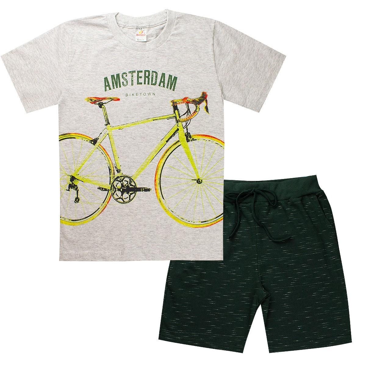 Conjunto Juvenil Menino Biketown Mescla Isensee