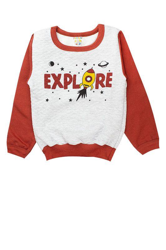 Conjunto Moletom Infantil Masculino Explore  Terra