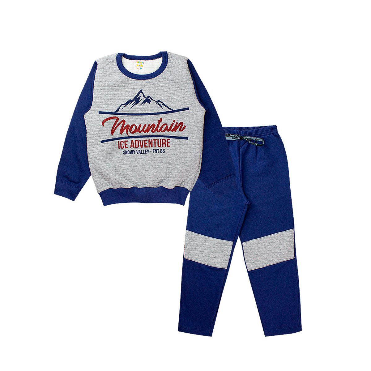 Conjunto Moletom Infantil Masculino Mountain Azul Marinho Fantoni