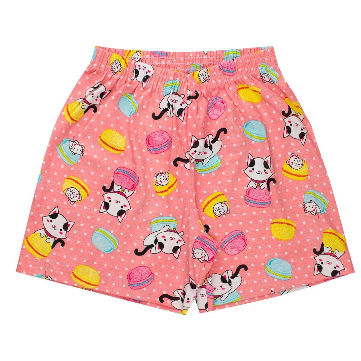 Conjunto Pijama Infantil Menina Brilha No Escuro Regata Rosa
