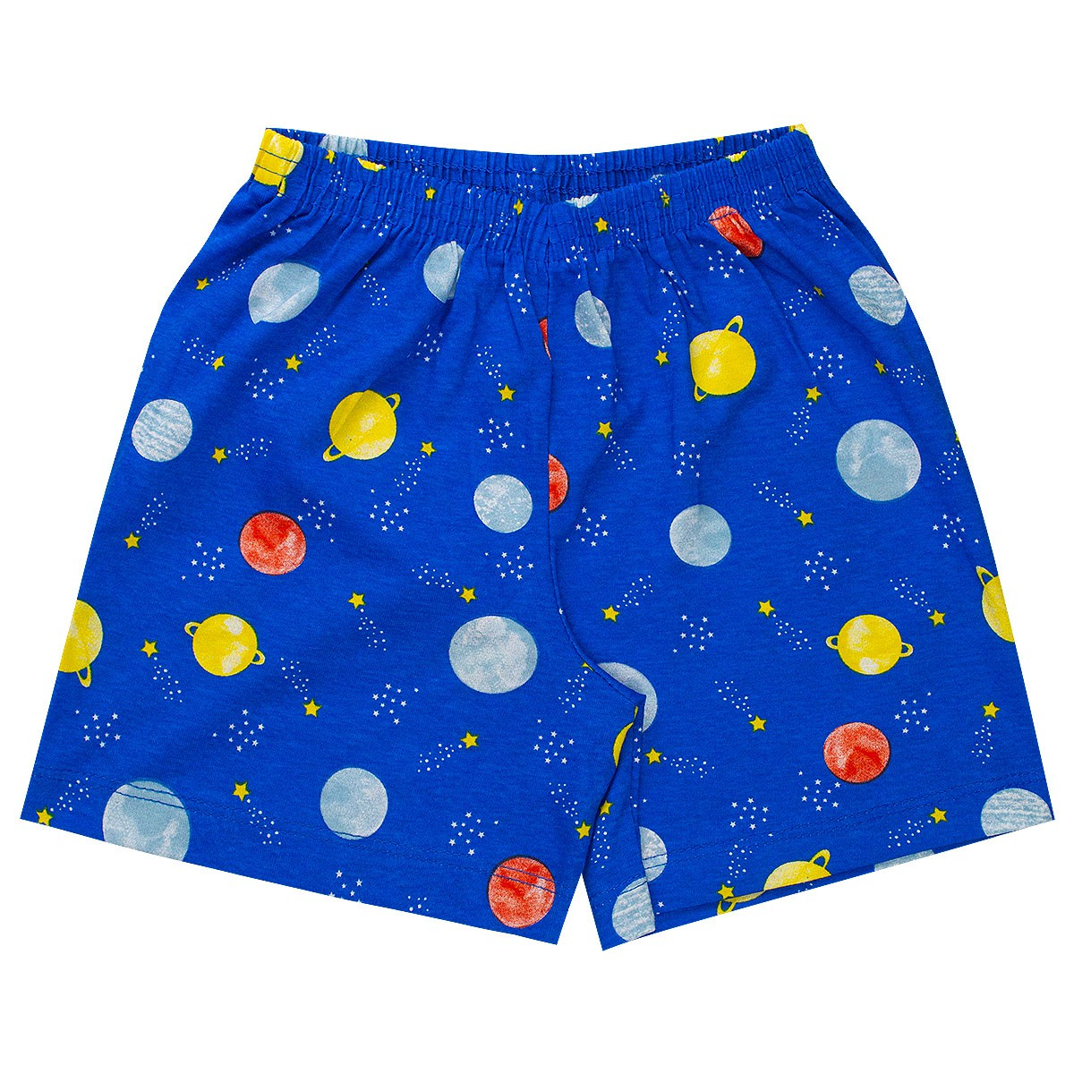 Conjunto Pijama Infantil Menino Brilha No Escuro Regata Branco