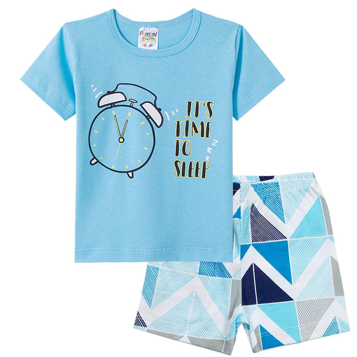 Conjunto Pijama Infantil Menino It´s Time Azul - Fantoni
