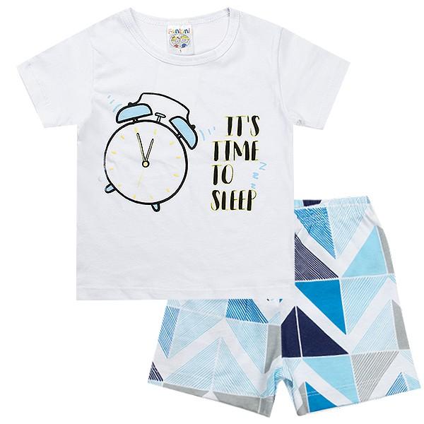 Conjunto Pijama Infantil Menino It´s Time Branco - Fantoni