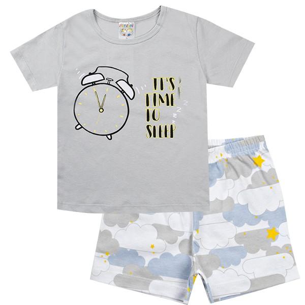 Conjunto Pijama Infantil Menino It´s Time Cinza - Fantoni