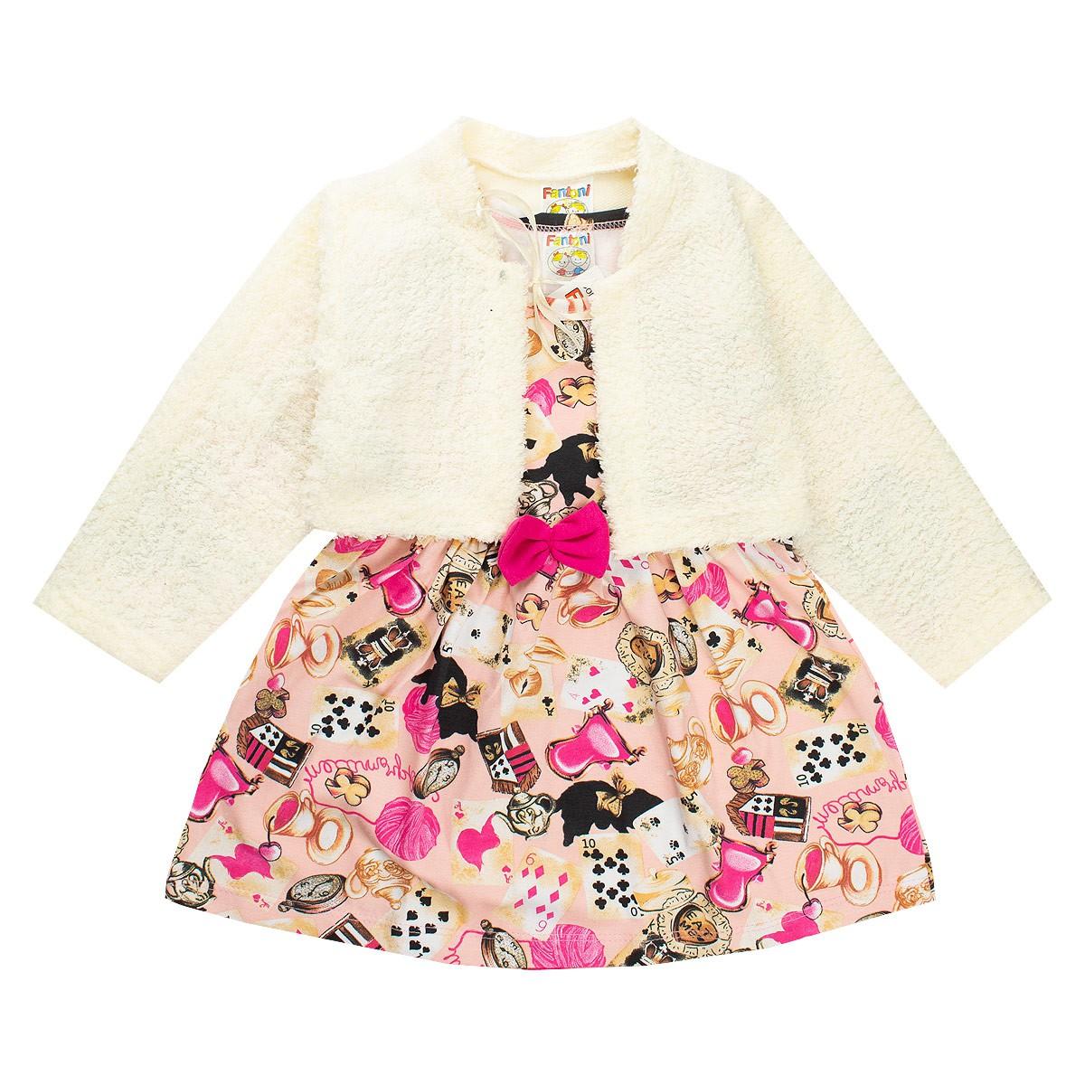 Conjunto Vestido Bolero Pink - Fantoni