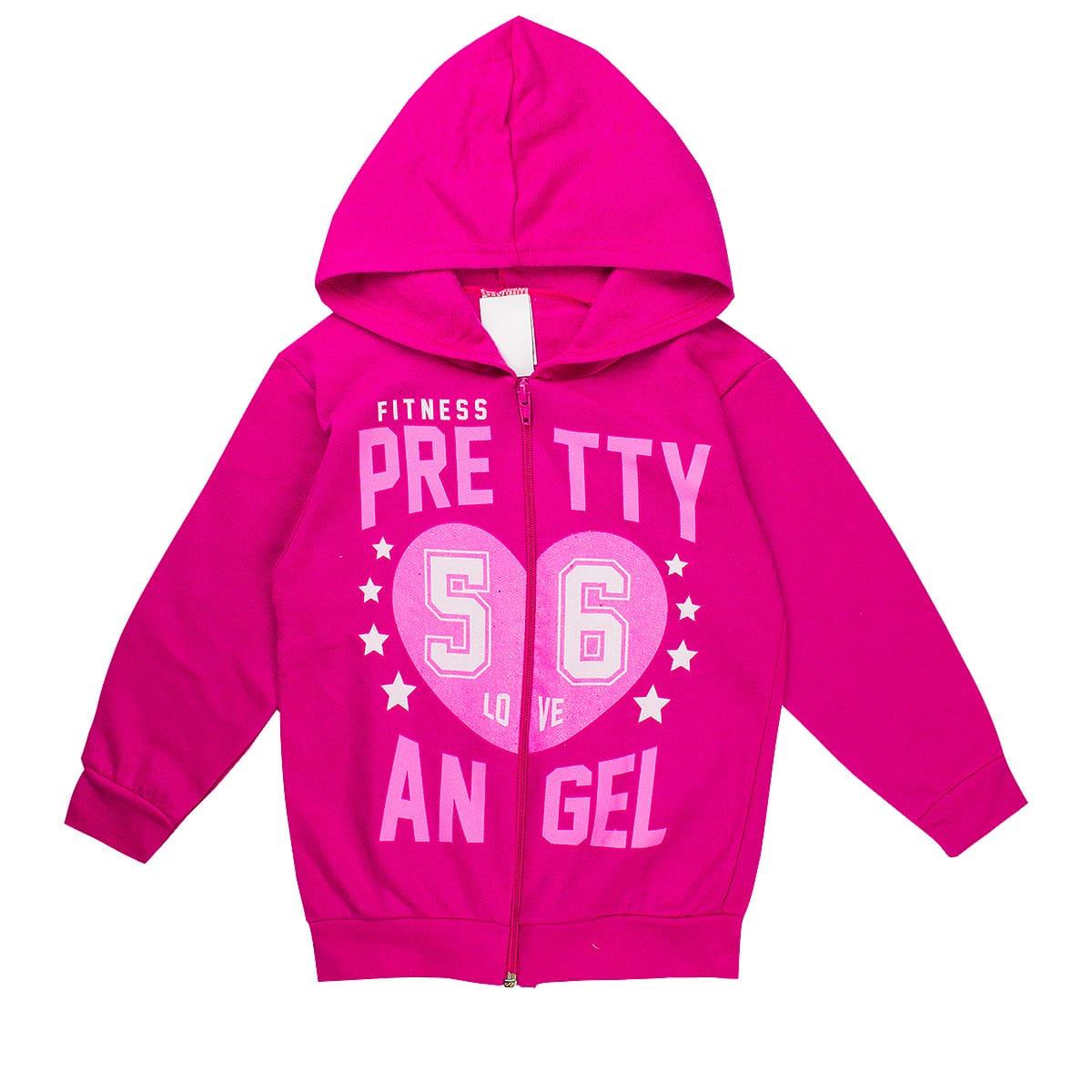 Jaqueta Infantil Feminina Pretty Angel Pink Analê