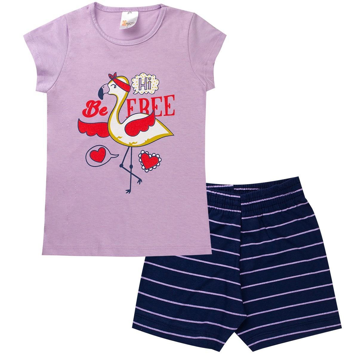 Kit 3 Conjunto Infantil e Juvenil Menina Summer Sortidos