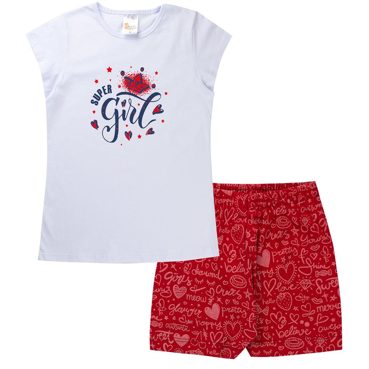 Kit 3 Conjunto Juvenil Menina Verão