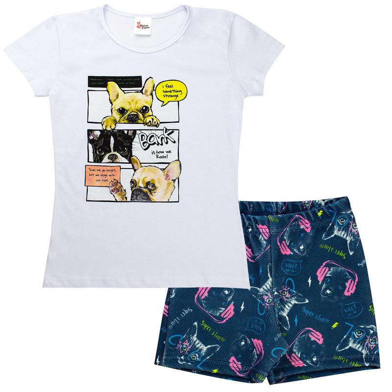 Kit 3 Conjuntos Juvenil Menina Roupas Crianças Femininas