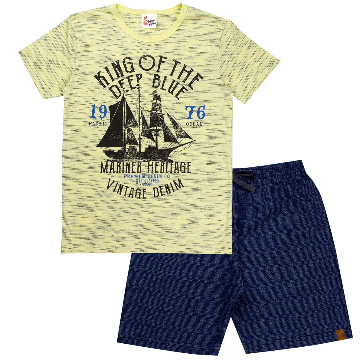Kit 4 Conjuntos Infantis Meninos Roupas Juvenil Verão